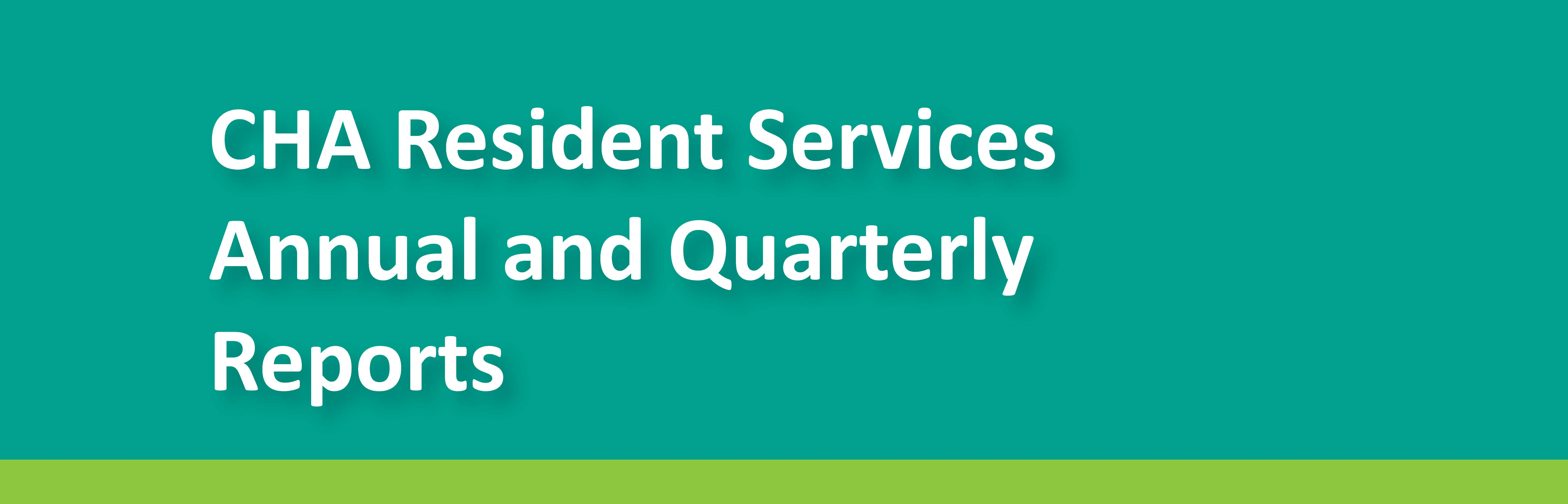 Resident Services Report Header