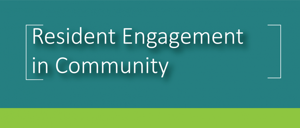 Y2021 Resident Engagement in Community Banner